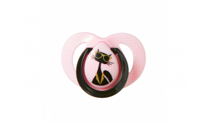 Pacifier C2N silicon  Moda 6 - 18 months, pink